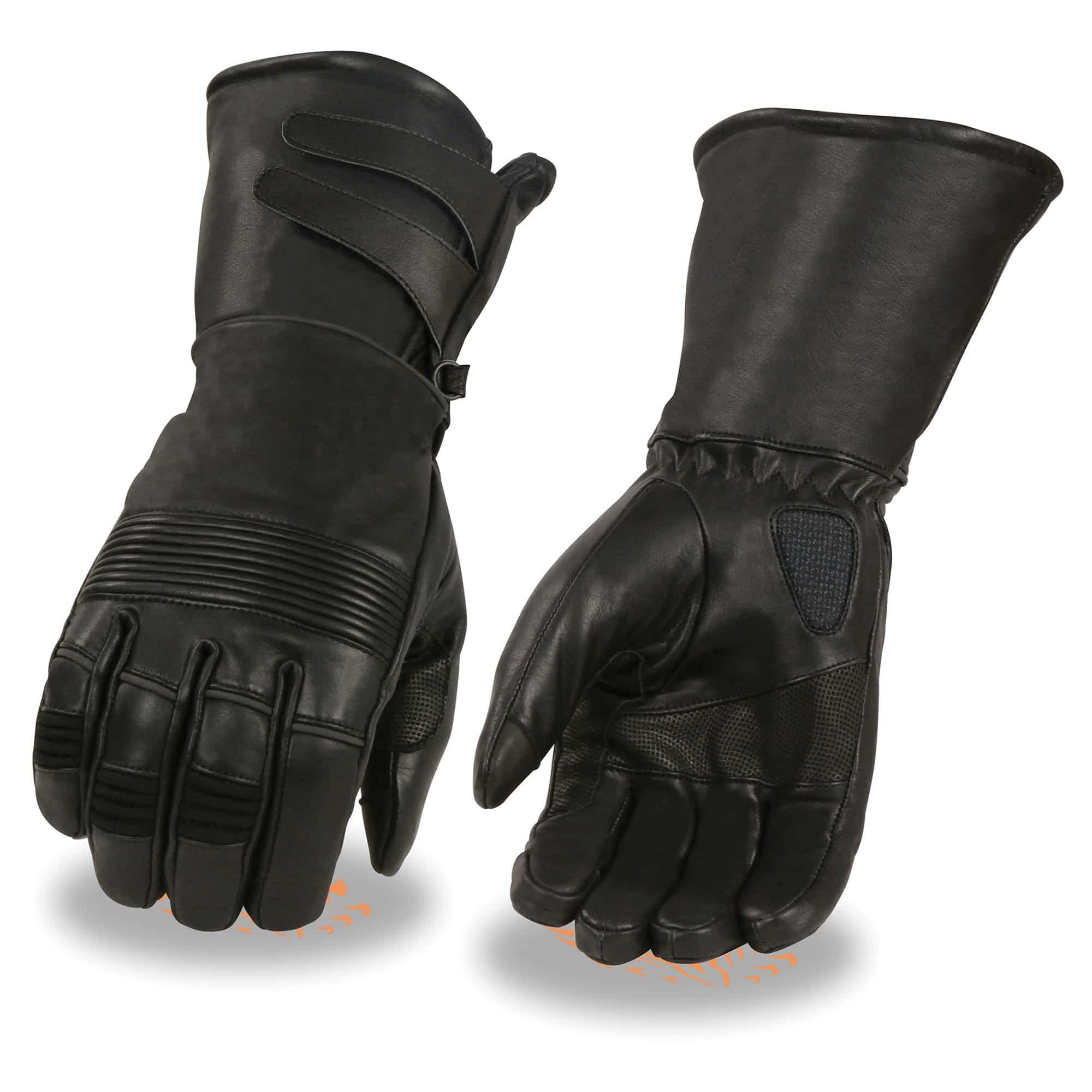 Black MG7510 Milwaukee Leather Mens Premium Leather Short Cruiser Gloves 3XL