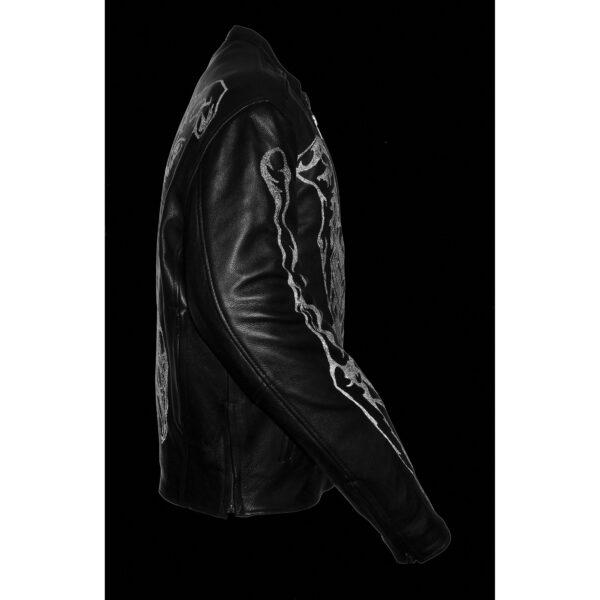 Men S Reflective Skeleton Bones Jacket Milwaukeee Leather