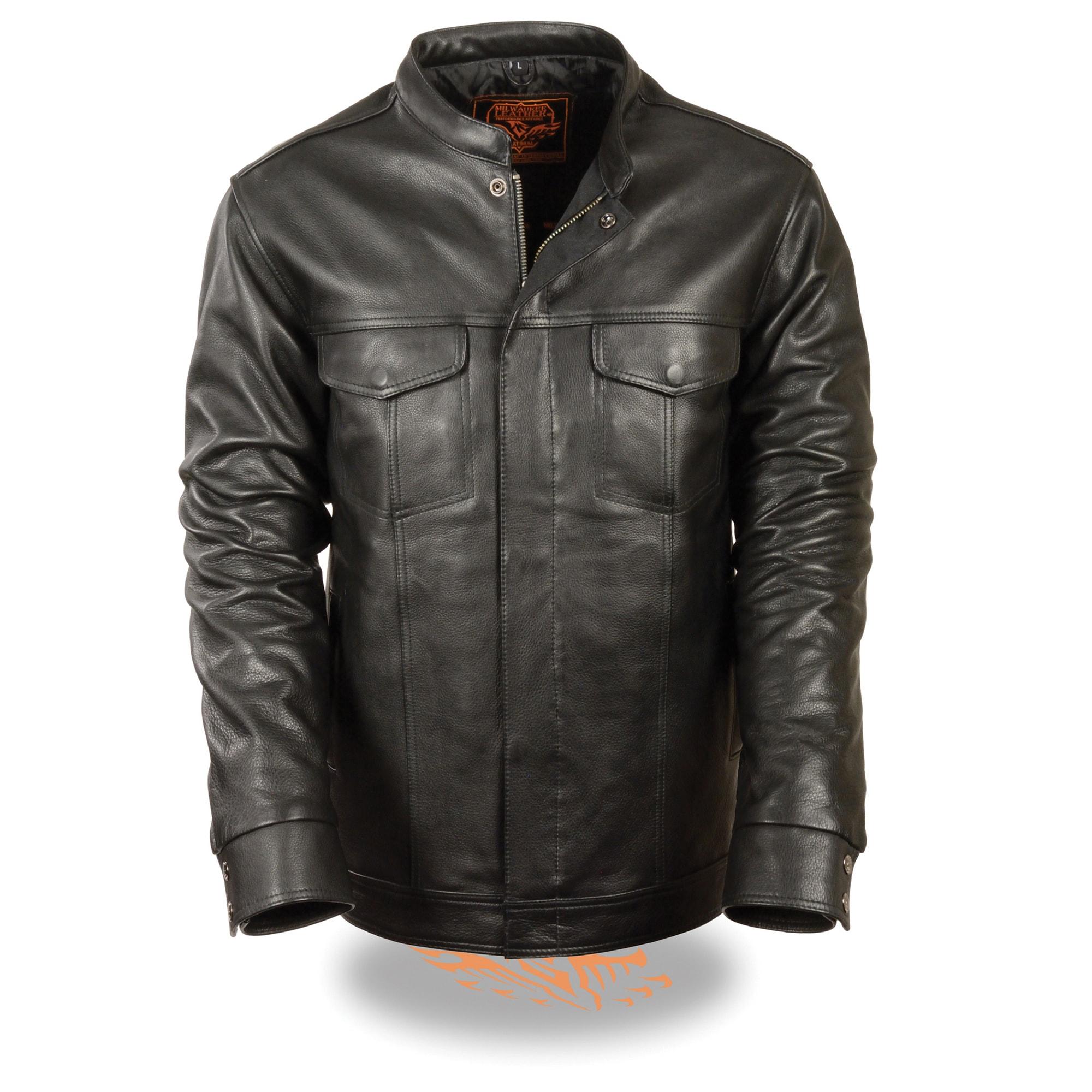 Men S Club Style Cut Zipper Snap Front Shirt Jacket