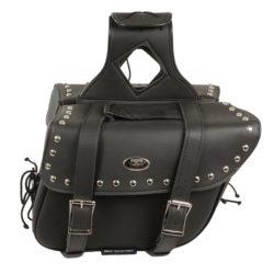 Milwaukee Performance SH574ZB Black Large Zip-Off PVC Throw Over Riveted Saddle Bag
