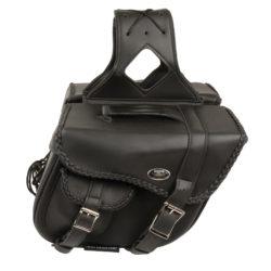 Milwaukee Leather MP8301-BLK-PCS Black Saddle Bag