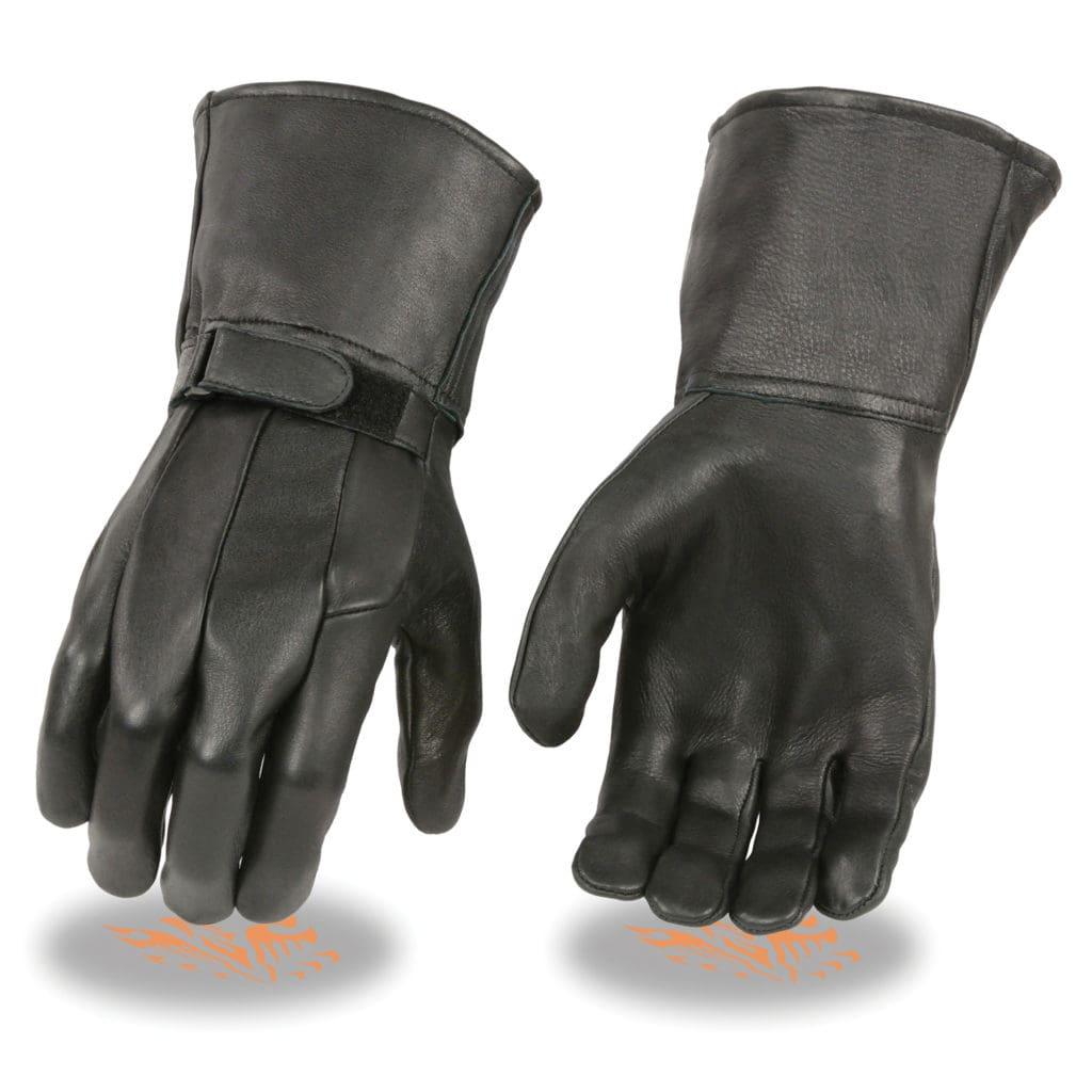 Milwaukee Leather Men/'s Deerskin Unlined Gauntlet Gloves **SH864
