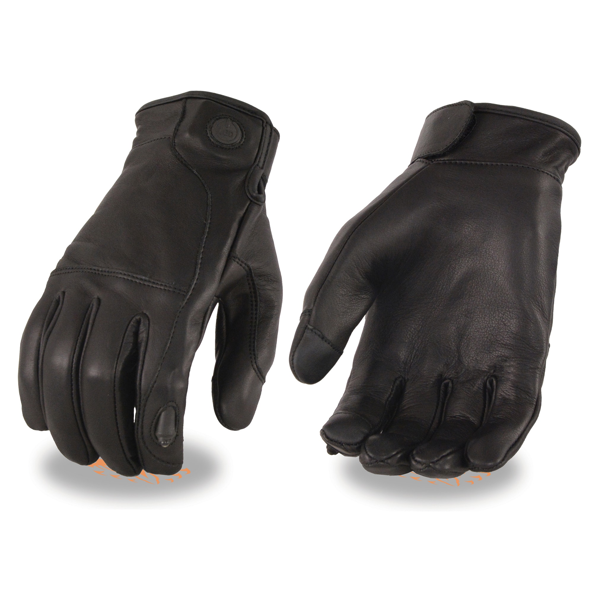 Men/'s Premium Leather Gloves W// LED Finger Lights /& I-Touch Feature **MG7599