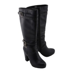 be63400b9079 Women Studded Strap Boot w  Platform Heel