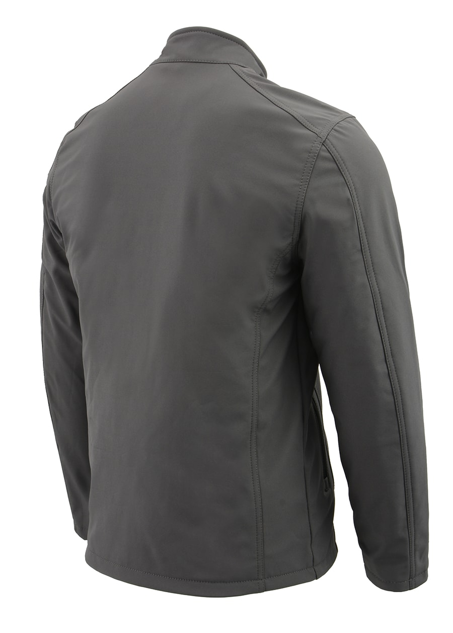 Black, Small Milwaukee Leather Womens Zipper Front Heated Soft Shell Jacket