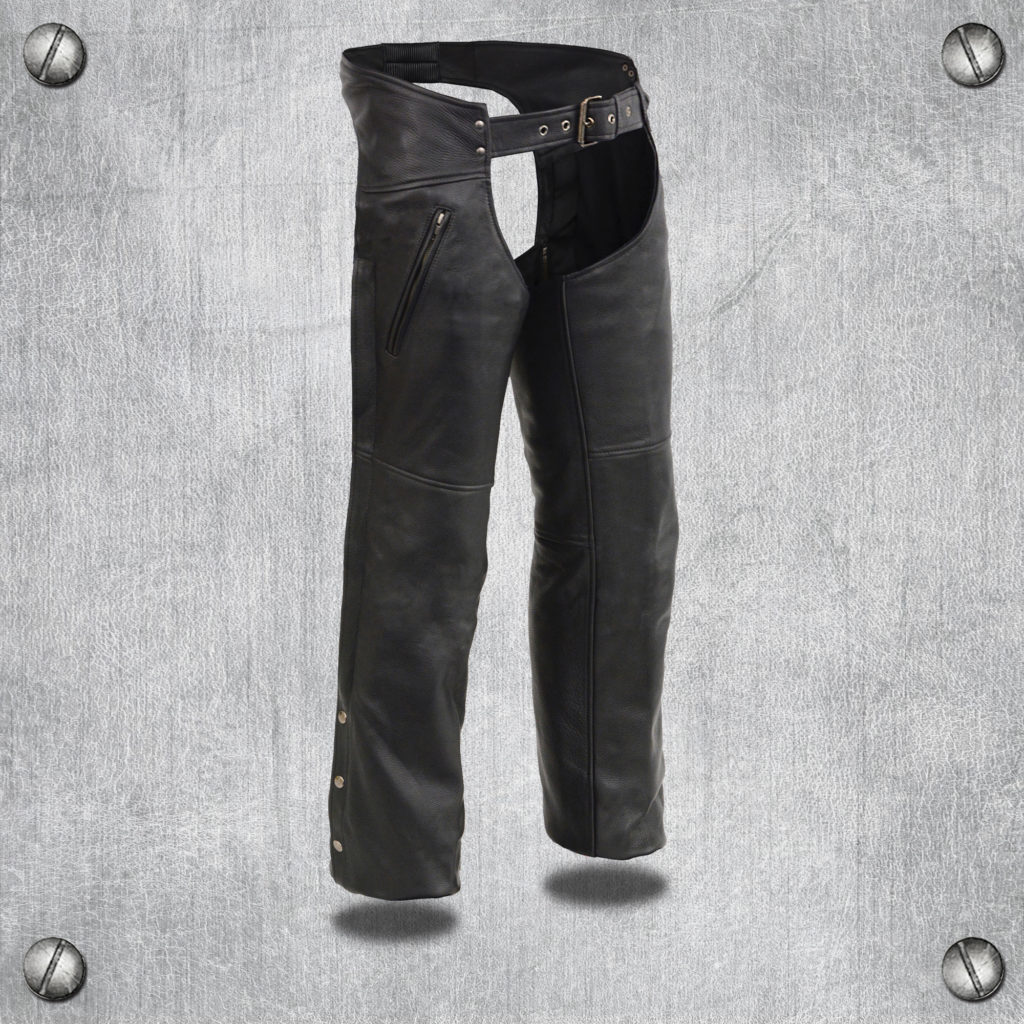 Milwaukee Leather Chaps Mens Chap w/ Zippered Thigh