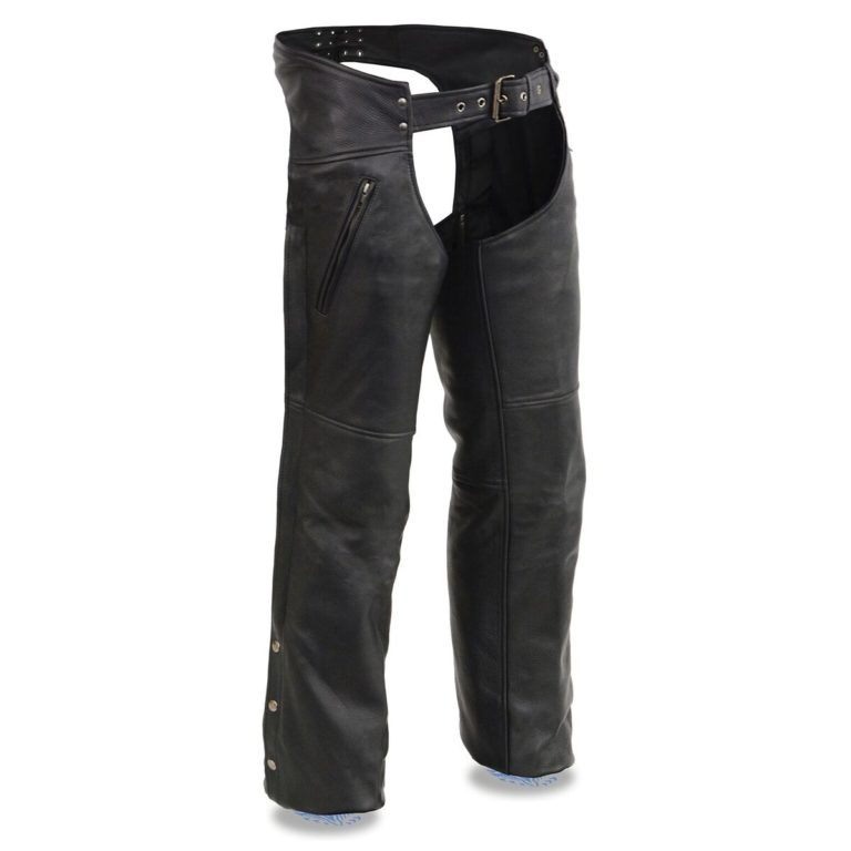 Milwaukee Leather Mens Vented Jean Pocket Chaps w/ Thigh